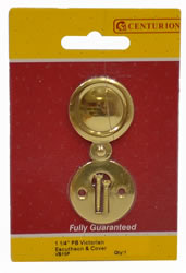1 1 / 4 inch Polished Brass Victorian Escutcheon with Cover
