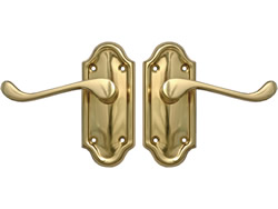 Polished Brass Napoli Suite Lever Latch Short Plate