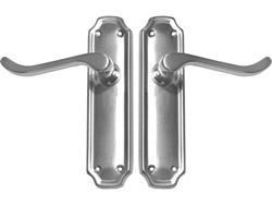 Polished Chrome Firenze Suite Lever Latch Long Plate