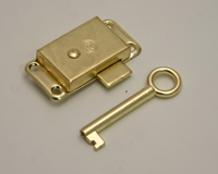 50 mm x 25 mm 2 inch x 1 inch Electro Brass Wardrobe Locks