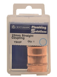22 mm Solder Ring Copper Straight Coupling