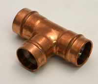 15 mm Solder Ring Copper Equal Tee