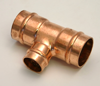 22 x 22 x 15 mm Solder Ring Copper Reducing Tee