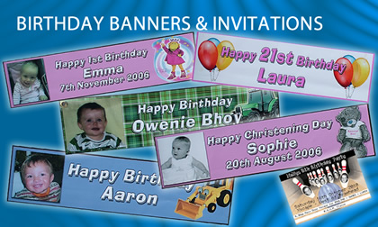 birthday banner printers UK