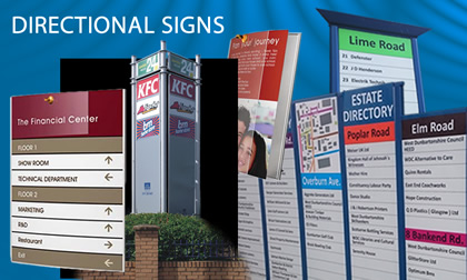 direction signs for industrial estates
