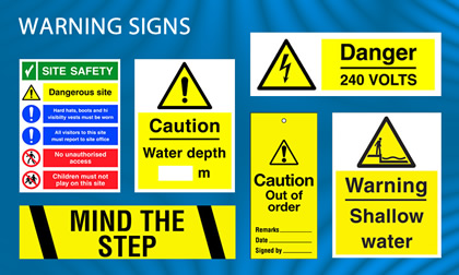 warning sign  suppliers