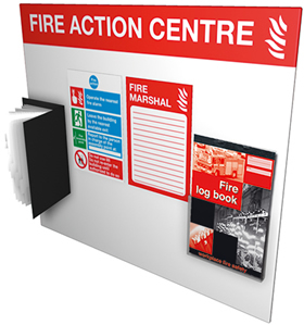 Fire Action Centre sign