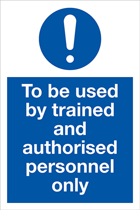 self-adhesive sign