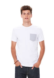 Canvas Mens Jersey Short Sleeve Pocket T-shirt