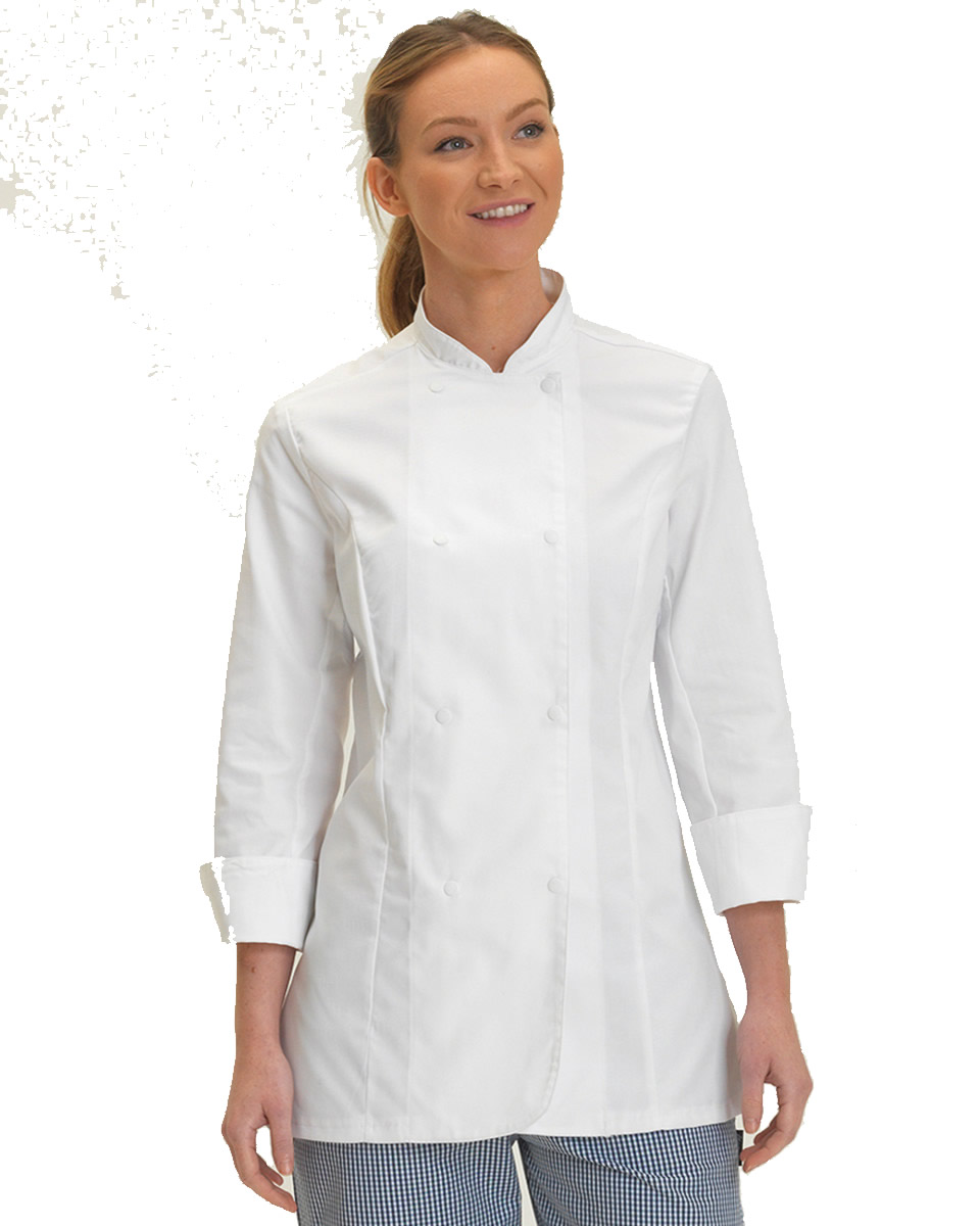 Denny Ladies Long Sleeve Chefs Jacket