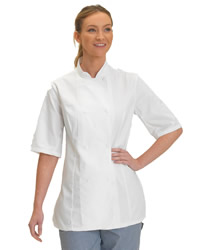 Dennys Ladies Short Sleeve Chefs Jacket