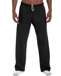 Gildan Mens Heavy Open Bottom Sweat Pants