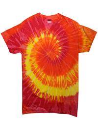 TDUK Short Sleeve Rainbow Tie Dye T-Shirt