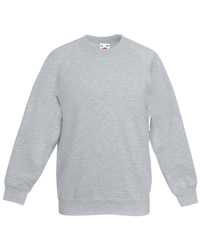 Fruit of the Loom Kids Premium Raglan Sleeve Sweat Shirt