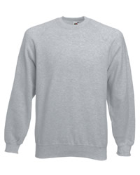 Fruit of the Loom Mens Classic Raglan Sleeve Sweat Shirt