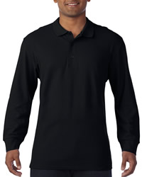 Gildan Premium Cotton Long Sleeve Polo Shirt