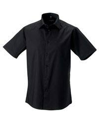 Russell Collection Mens Short Sleeve Shirt
