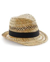 Beechfield Straw Summer Trilby