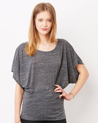 Bella Ladies Flowy Draped Dolman T-shirt
