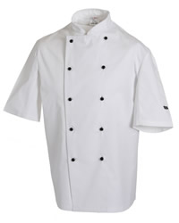 Dennys Lightweight Short Sleeve Chefs Jacket