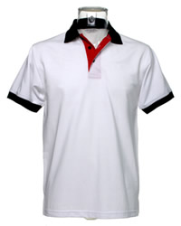 Kustom Kit Contrast Pique Polo Shirt