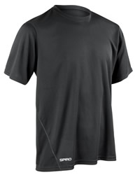 Spiro Mens Quick Dry Short Sleeve T-Shirt