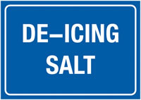 A4 De-Icing Salt Self Adhesive Vinyl Safety Labels